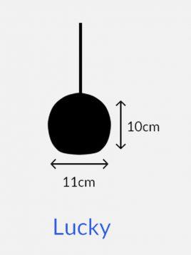 چراغ آویز چوبی مدل لاکی