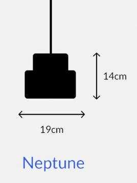 چراغ آویز چوبی مدل نپتون
