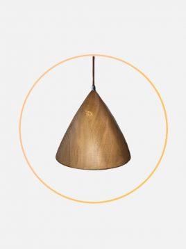 چراغ آویز چوبی مدل زیما