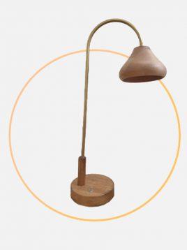 آباژور رومیزی چوبی مدل داینو کرو