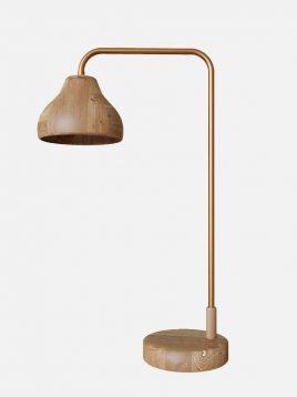 آباژور رومیزی چوبی مدل داینو اسکوار