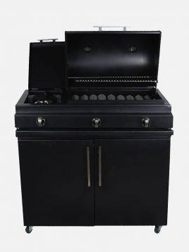 باربیکیو گازی خوراک پز دار با کابینت رستمی
