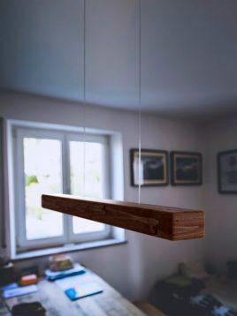 چراغ آویز چوبی خطی تسلا مدل لاینر