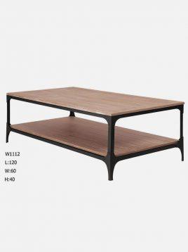 میز جلو مبلی چوبی روستیک  کدH1112