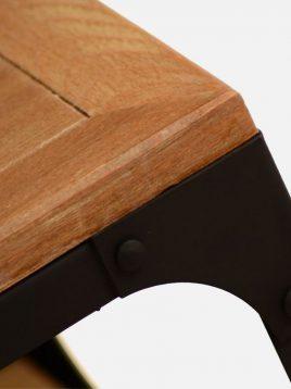 میز پاتختی چوبی روستیک  کدH1161