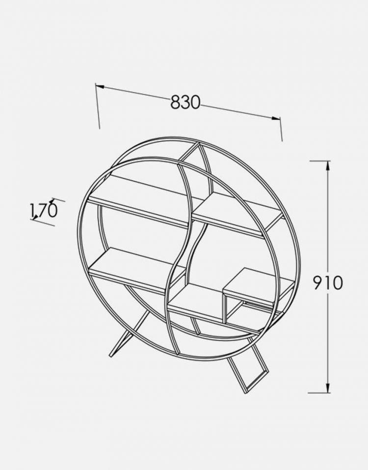 قفسه کتاب دیواری ساده مدل H1404