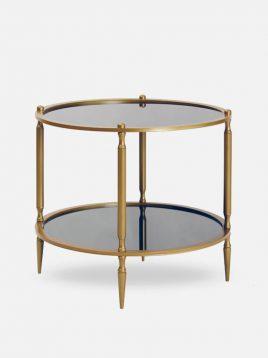 میز کنار مبلی بزرگ گرد سان هوم مدل سنگ و آینه