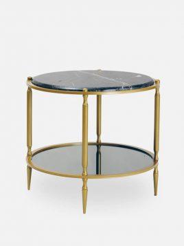 میز کنار مبلی بزرگ گرد  مدل سنگ و آینه H