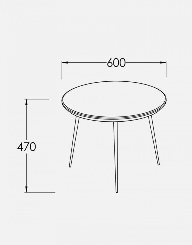 میز عسلی گرد مدرن مدل W8020