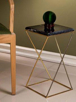 میز کنار مبلی سنگی و فلزی سان هوم کد w2627