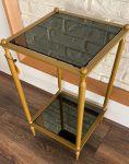 میز کنار مبلی مربعی دو طبقه  مدل سنگ و آینه H