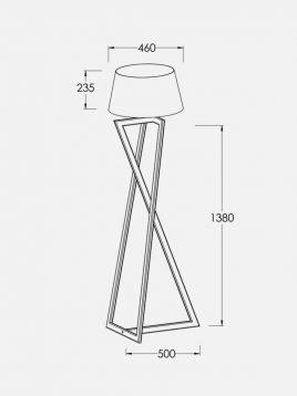 آباژور چوبی سان هوم مدل W0117