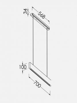 چراغ آویز خطی چوبی ال ای دی سان هوم