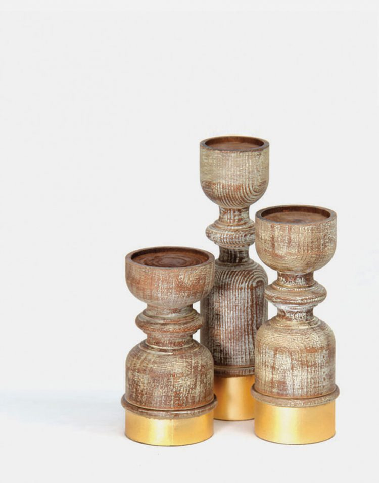 جاشمعی چوبی سه تایی سان هوم کد w5020
