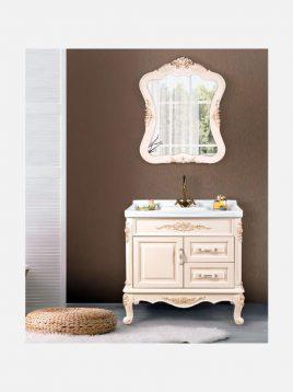 lotus bathroom vanities Hermes 800 model1 268x358 - کابینت روشویی لوتوس کلاسیک مدل Hermes-800