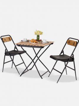 ست دو نفره میز و صندلی تاشو نهالسان کد ۴۴۲