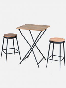 ست دو نفره صندلی و میز تاشو نهالسان کد ۴۴۰