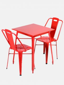 ست دو نفره میز و صندلی رستورانی نهالسان کد ۶۳۰
