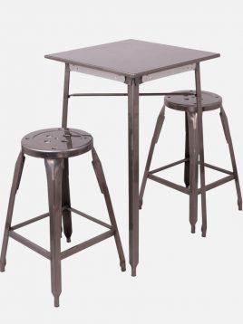 ست دو نفره میز و صندلی رستورانی نهالسان کد ۹۴۰