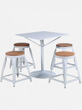 ست چهار نفره میز و صندلی رستورانی نهالسان کد ۵۳۰