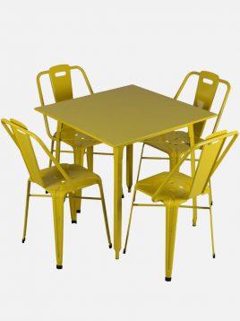 ست چهار نفره میز و صندلی رستورانی نهالسان کد ۱۳۰