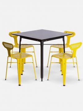ست چهار نفره میز و صندلی رستورانی نهالسان کد ۲۲۰