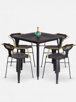ست چهار نفره میز و صندلی رستورانی نهالسان کد ۳۲۰