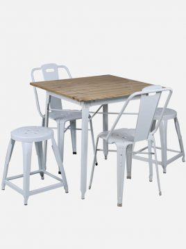 ست چهار نفره میز و صندلی رستورانی نهالسان کد ۳۳۰