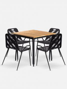 ست چهار نفره میز و صندلی رستورانی نهالسان کد ۴۲۰
