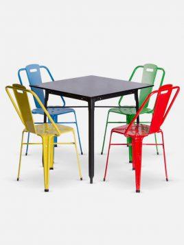ست چهار نفره میز و صندلی رستورانی نهالسان کد ۶۲۰