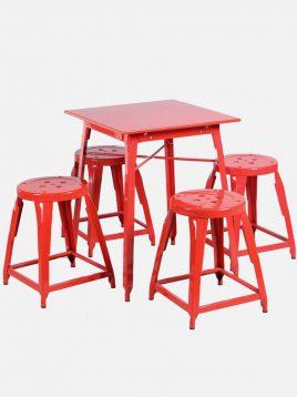ست چهار نفره میز و صندلی رستورانی نهالسان کد ۸۳۰