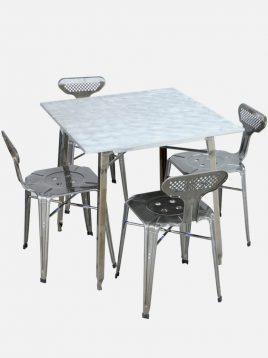 ست چهار نفره میز و صندلی رستورانی نهالسان کد ۹۲۰