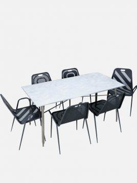 ست شش نفره میز و صندلی رستورانی نهالسان کد ۵۴۰
