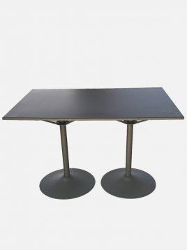 میز ناهارخوری فلزی شش نفره نهالسان طرح دو پایه