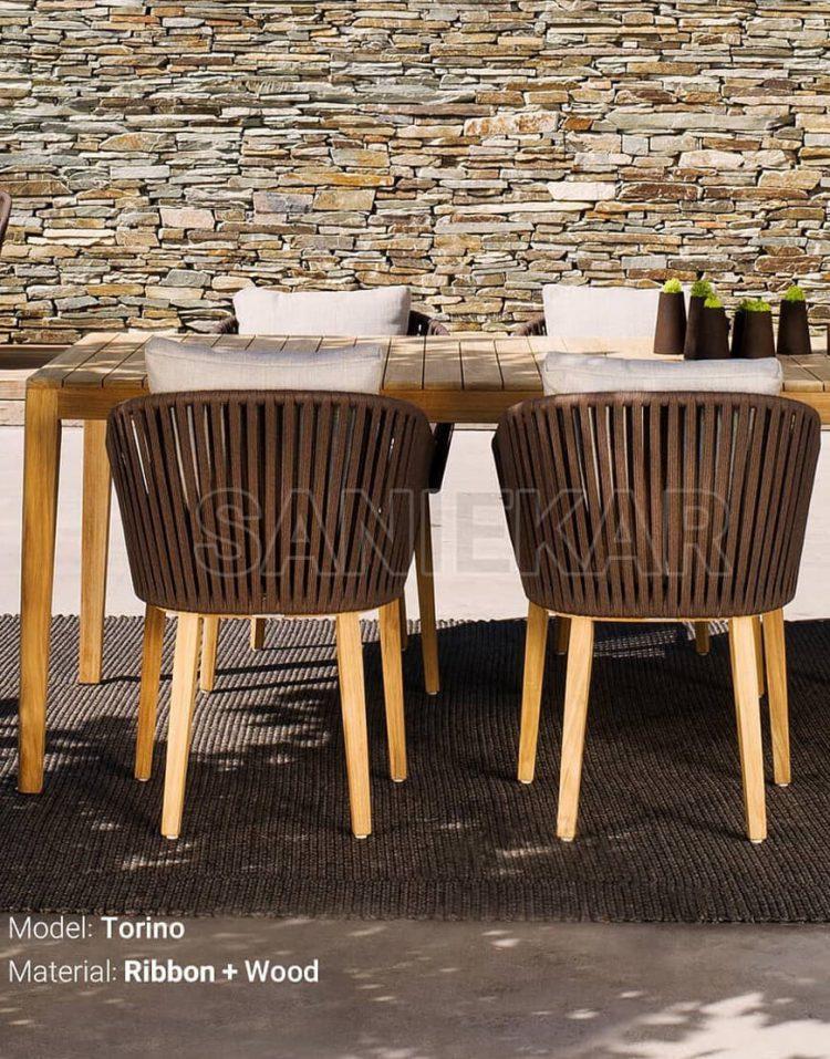 صندلی صادراتی ناهارخوری صنیع کار مدل تورینو