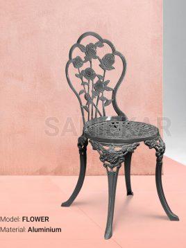 صندلی فضای باز آلومینیومی صنیع کار مدل گل
