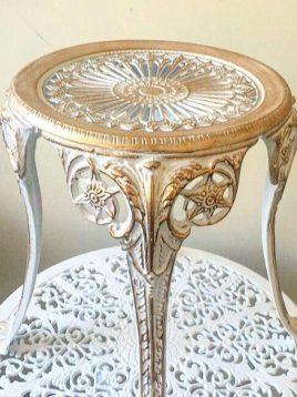 میز کنار مبلی آلومینیومی صنیع کار مدل عسلی