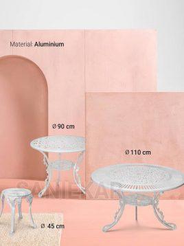 میز گرد فضای باز آلومینیومی صنیع کار کد ۱۱۰