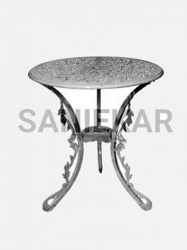 میز گرد فضای باز آلومینیومی صنیع کار کد ۶۵
