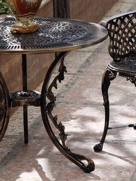 میز گرد فضای باز آلومینیومی صنیع کار کد ۷۵