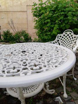 میز گرد فضای باز آلومینیومی صنیع کار کد ۸۵