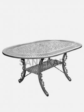 میز فضای باز آلومینیومی صنیع کار مدل بیضی
