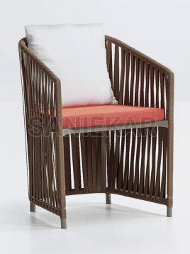 صندلی ناهارخوری دسته دار صنیع کار مدل فلورانس