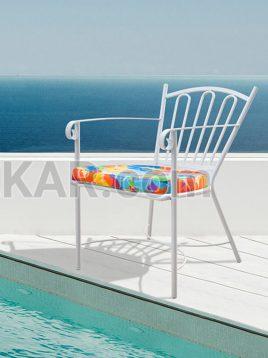 saniekar iron outside chair model French 1 268x358 - صندلی فضای باز فلزی صنیع کار مدل فرانسوی