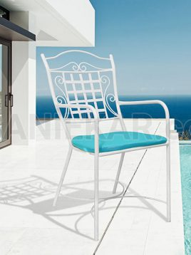 صندلی فضای باز فلزی صنیع کار مدل دیپلمات