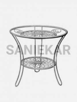 میز کنار مبلی فضای باز فلزی صنیع کار