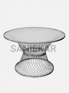 میز فلزی صبحانه خوری فضای باز صنیع کار مدل بامبو