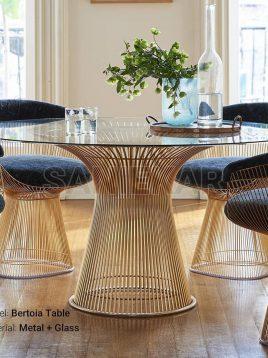 میز فلزی صبحانه خوری صنیع کار مدل برتویا