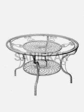 میز صبحانه خوری فضای باز فلزی صنیع کار مدل کالسکه