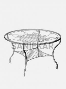 میز صبحانه خوری فضای باز فلزی صنیع کار مدل مهتاب